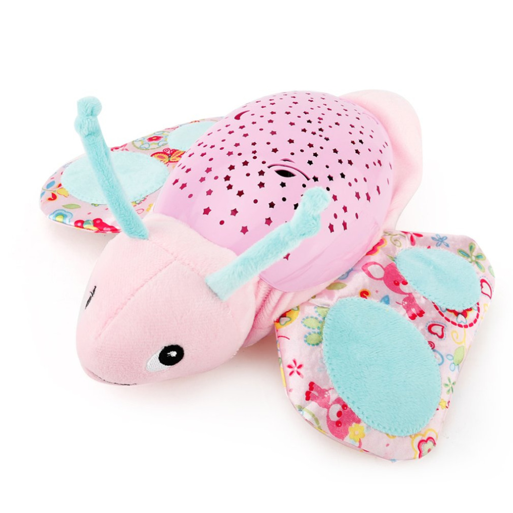 ICOCO Animal Projection Plush Toys Lamp Dreamy Starry Star Light Dolls with Music and Stars Projector for Baby Infant Sleep