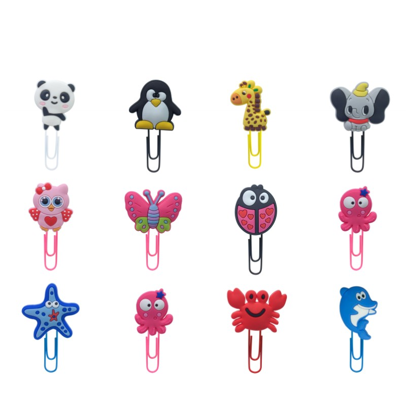 1pcs Lovely Animals Bookmarks For Kids Sheep Cow Dog Rabbit Book Mark Paper Clips For School Teacher Office Supply Party Gift