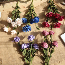 European rose PE grass flower artificial home decoration wedding holding flowers