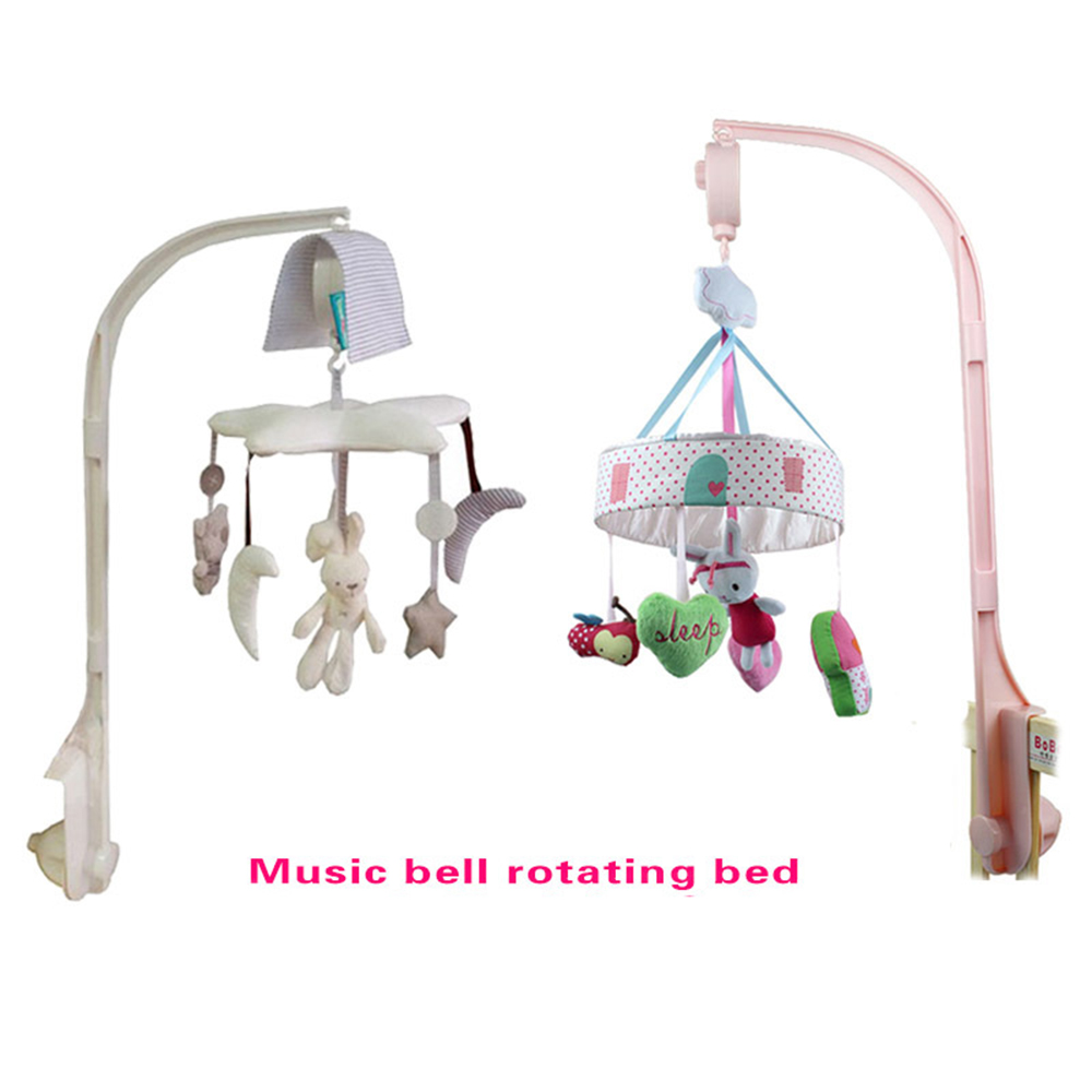 With Stand Crib Music Box Wind Chimes Rattles Toys Infant Rotating Campanula Plush Cloth Bed Hanging Music Box Sleep Appease Toy dedo music gifts mg 308 pure handmade rotating guitar music box blue