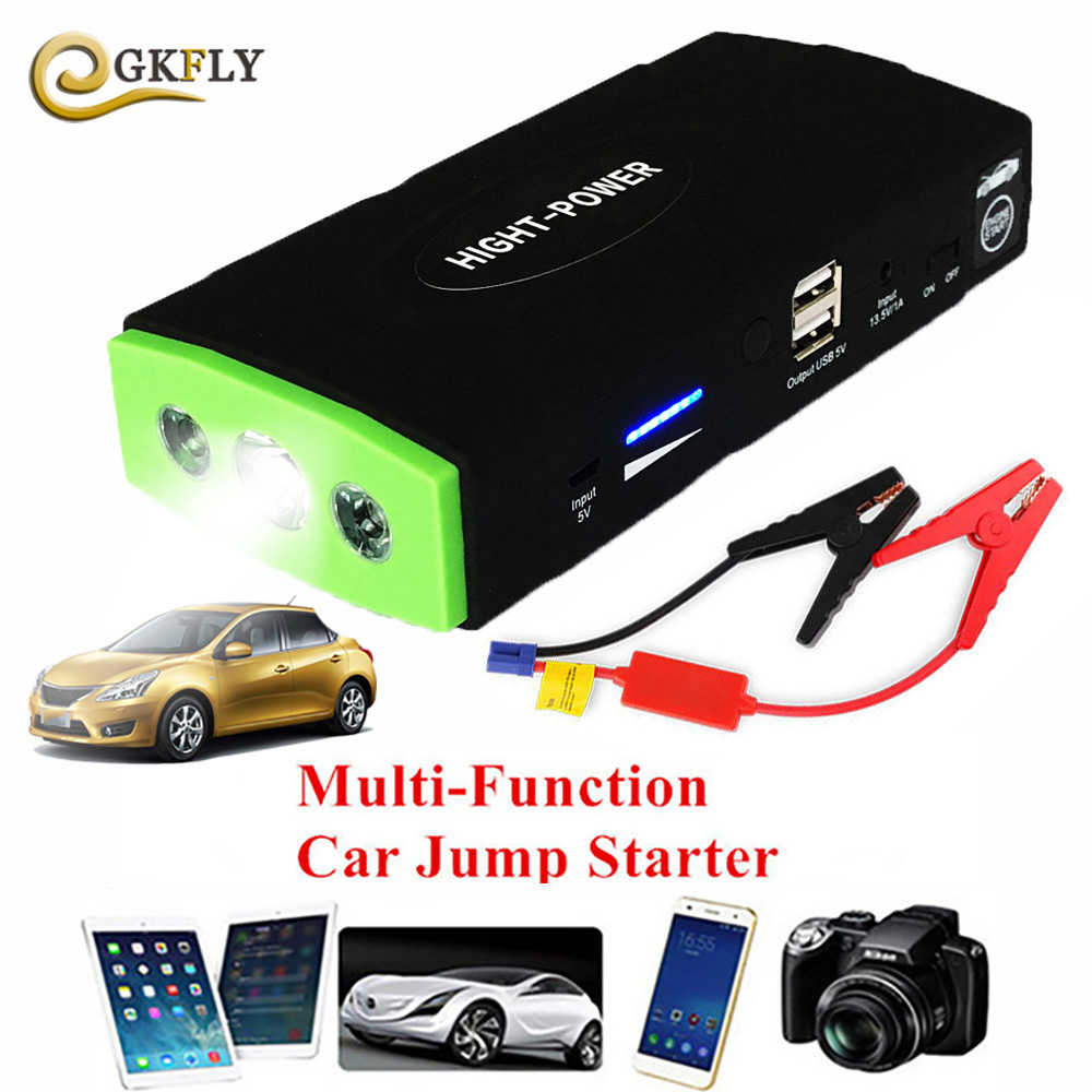 2019 High Power Car Emergency 12V Car Battery Jump Starter Booster Portable Power Bank 600A Peak Multi-function Starting Device