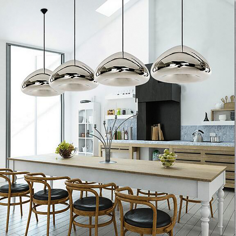 Model Of Modern Mirror Bowl Glass LED Pendant Light Void Lamp Colored Hanging Lamps Home Lighting For Cafe Bar Store Coffee Shop Bedroom in Pendant Lights from Luxury - Popular small lantern pendant light Pictures