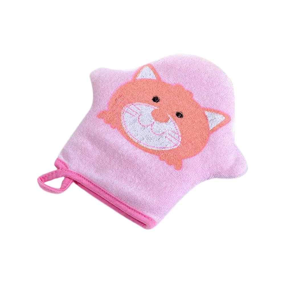 3Colors Cartoon Super Soft Cotton Baby Bath Shower Brush Cute Animal Modeling Sponge Powder Rubbing Towel Ball For Baby Children