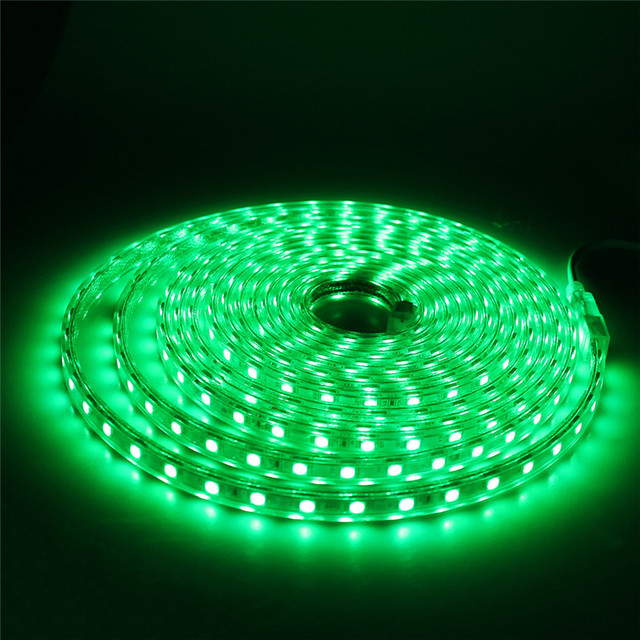 Waterproof SMD5050 led tape AC220V flexible led strip | 60 leds/Meter