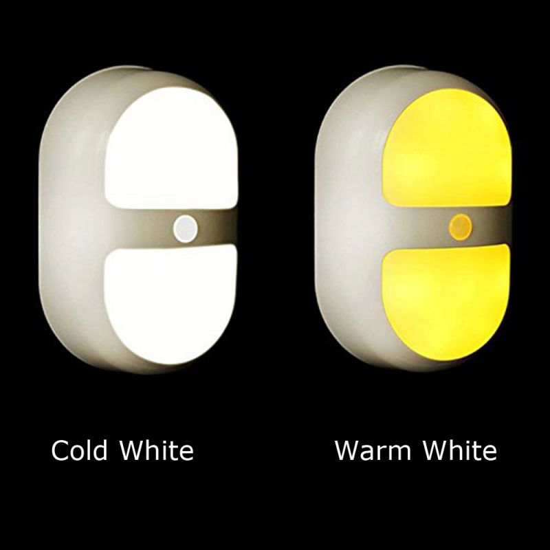 Night Light Motion Activated Battery Operated Wall Lights with 10 LED and Dual Sensor Ni ...