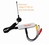 Digital Satellite DVB t2 USB tv Stick Tuner with Antenna Remote HD TV Receiver DVB T2/T/C/FM/Analog for Europe Free Shipping
