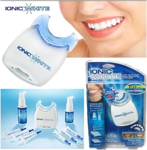 veneers teeth overhead Activated 7 LED Whitening System IONIC WHITE REFILL KITs Toothpaste Whitening Mouthwash teeth cleaner image