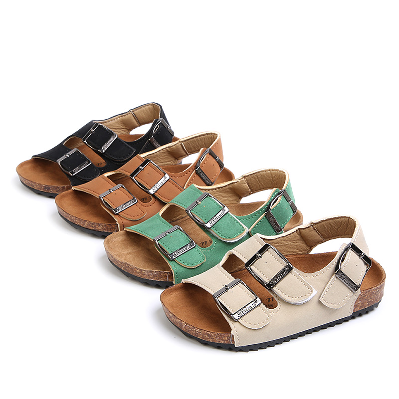 Children Cork Slippers Fashion Summer Boys Sandals Kids Shoes Slip On Child Girls Sandals For Mother And Kids Size 22-39