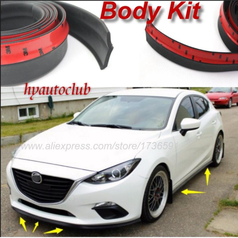 Lyudmila Bumper Lip Deflector Lips / For Mazda 3 Mazda3 M3 Axela BK BL BM / Front Spoiler Skirt For Tuning View / Body Kit Strip