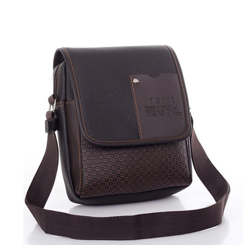 Pu Leather Men Messenger Bag Designer Crossbody Bags For Men Shoulder Bags Retro Male Handbag Bolsa Masculina WBS617