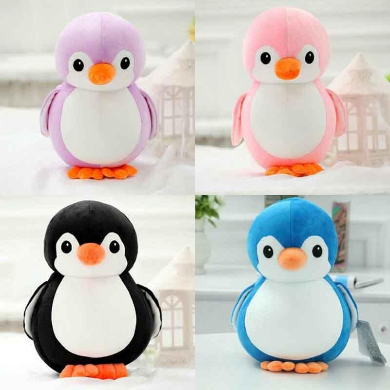 Pink penguin stuffed animal