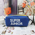 Youpop K-POP Super Junior SJ SuJr KPOP Canvas Jewelry Admission Package Pencil Bags Cosmetic Case KPOP Student Stationery Kits