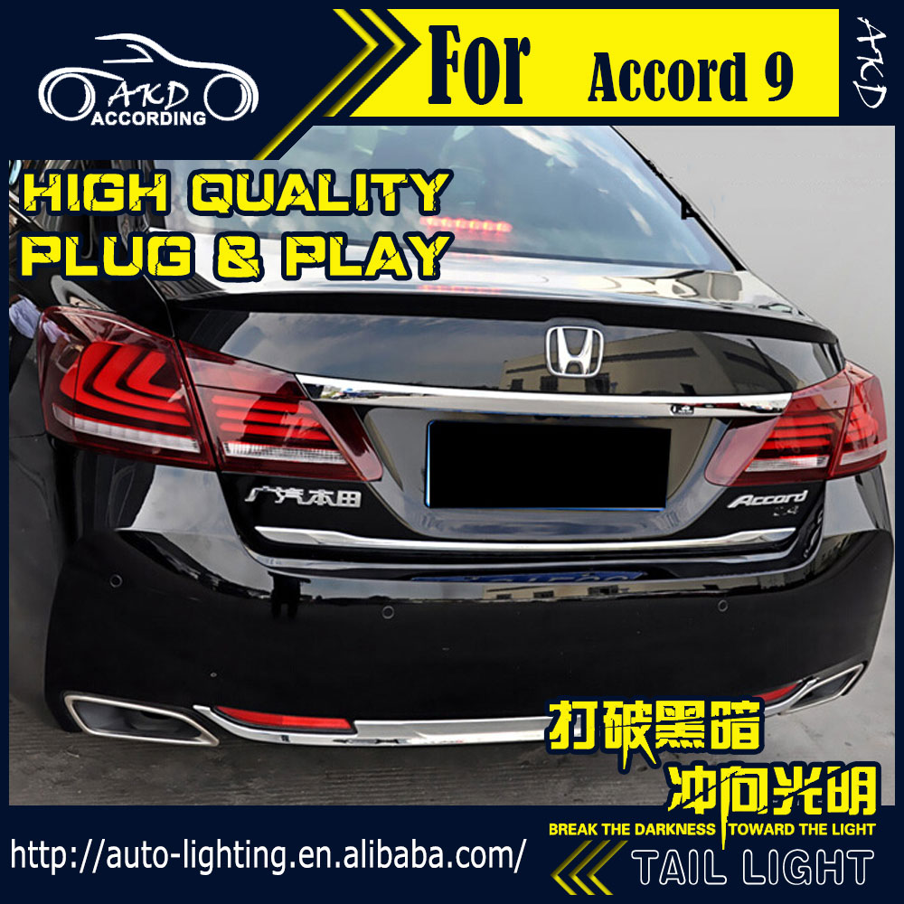 AKD Car Styling Tail Lamp for Honda Accord Tail Lights 2013 2016 LED Tail  Light LED Signal LED DRL Stop Rear Lamp Accessories-in Car Light Assembly  from ...