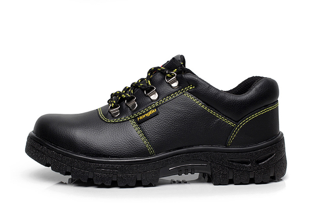 HUANQIU Men Fashion Large Size Leather Steel Toe Caps Work Safety Spring Shoes Non-slip Platform Tooling Boots ZLL203