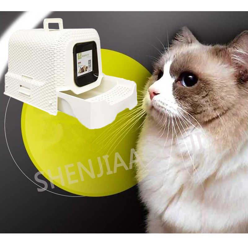 Ротанговый полностью закрытый кошачий Туалет однослойный ящик кошачий Туалет Дезодорант мусорный ящик Большой Космический навоз бассейн товары для домашних животных 1 шт.