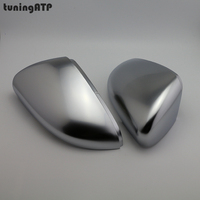 PAIR Matte Electroplated Silver Door Wing Mirror Replacement Covers Caps for Volkswagen Golf VI 6 Mk6 R20 Touran