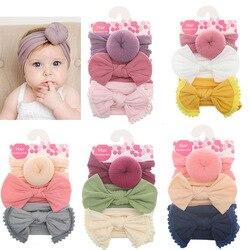 3 teile/los Sommer Neue Baby Mädchen Stirnbänder Blume Bögen Floral Neugeborenen Haar Zubehör Baby Stirnband Weiche Nylon Elastischen Haarband
