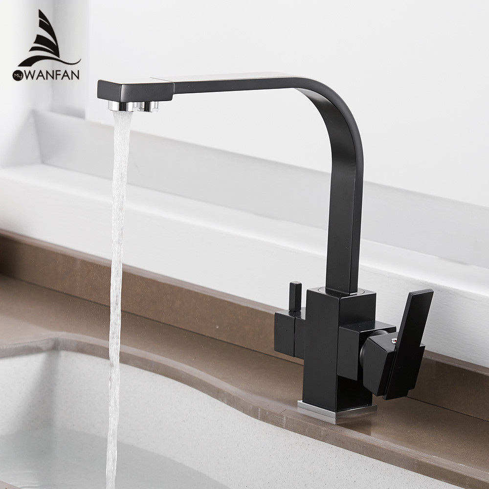 Kitchen Faucets Deck Mounted Mixer Tap 360 Degree Rotation with Water Purification Features Mixer Tap Crane For Kitchen WF-0178 newly arrived pull out kitchen faucet gold sink mixer tap 360 degree rotation torneira cozinha mixer taps kitchen tap