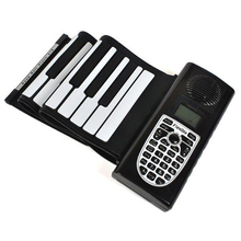 New Roll up keyboard piano Musical Instrument silicone 61 keys Flexible Portable