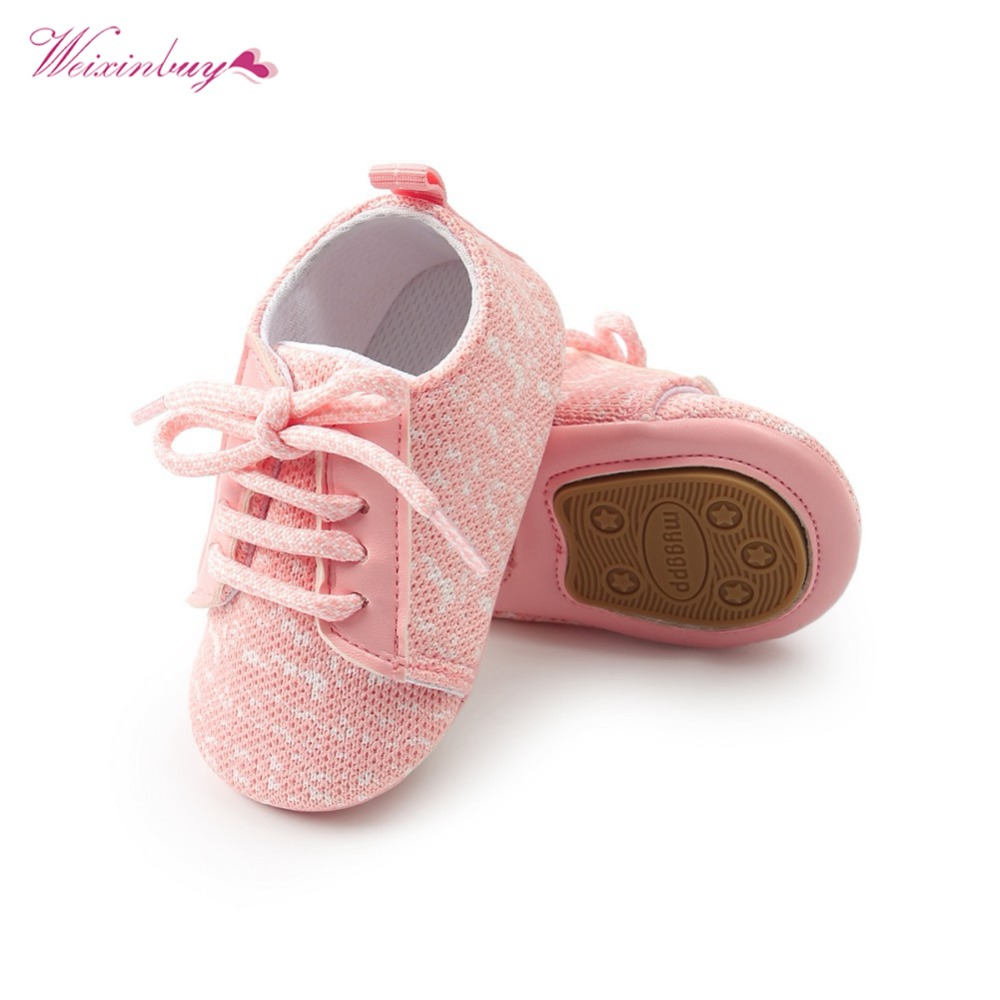 Baby Boy Girl Shoes Spring Shoes Patchwork Soft Non-slip Footwear Crib Cotton First Walker Newborn Baby Shoes 2018