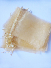 100pcs gold organza reward luggage 7x9cm get together luggage for girls occasion marriage ceremony Drawstring bag Jewellery Show Bag Pouch diy equipment