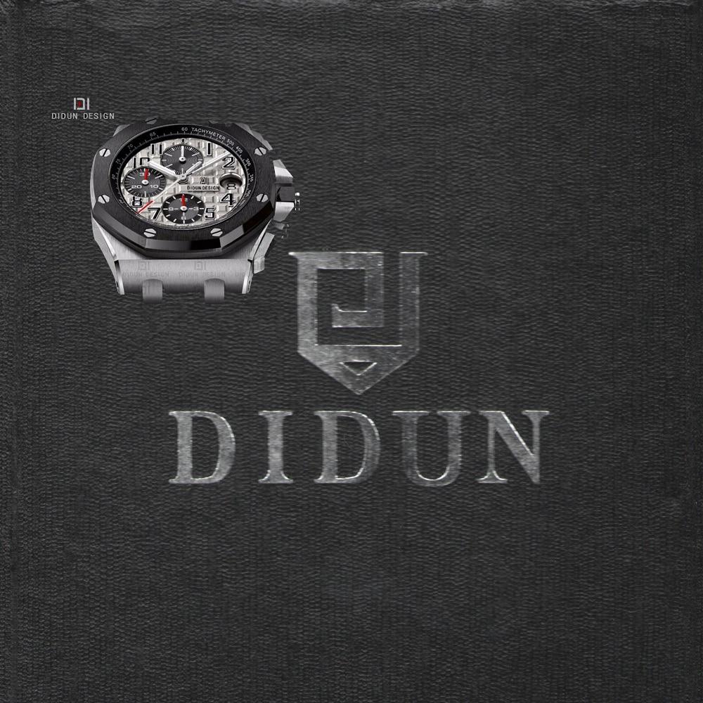 DIDUN часы Для мужчин s Топ Элитный бренд кварцевые серебряные часы Для мужчин военные Хронограф Спортивные часы противоударный 30 м Водонепро...
