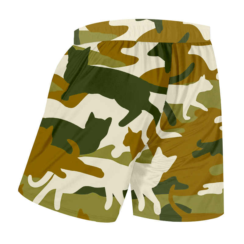 Ogkb Pria Musim Panas Baru Celana Pendek Boardshorts 3D Cetak Macan Tutul Cetak dan Kamuflase Geometris Kebesaran Pakaian untuk Pria Celana Olahraga