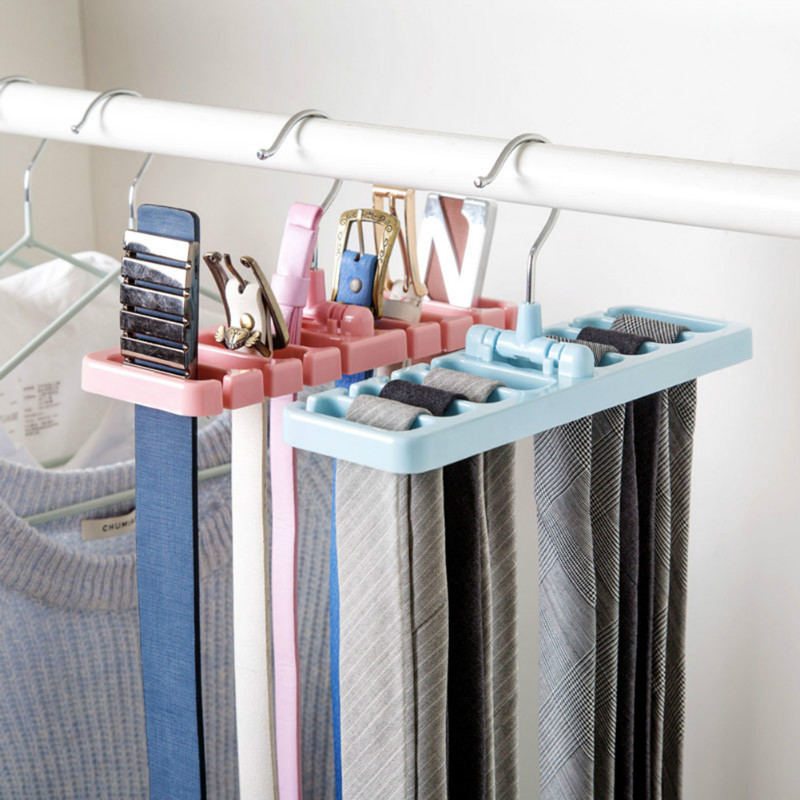 YOLALA Multifuction Storage Rack Tie Belt Organizer Rotating Ties Hanger Holder  Closet Wardrobe Storage Holder Space
