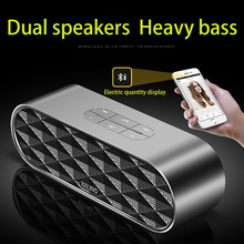 Smart Bluetooth speakers dual horn Dual chip bass denoise 360 HIFI stereo surround sound portable HD call TF card voice prompt