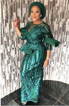 2018 high quality French Nigerian sequins net lace,African tulle mesh sequence lace fabric for party dress 5yards/lot