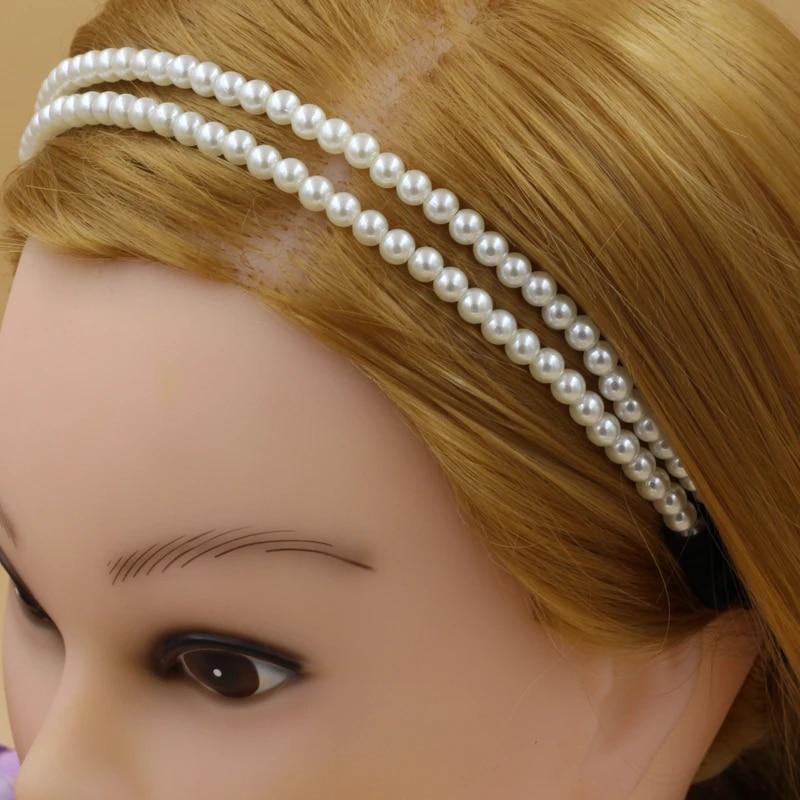 12pcs Lot Classic Womens Girls Elastic Pearl Hair Hoop Double Lovely Pearl Hair Band Headband 2 Layers Pearl Hair Band Hair Tint Hair Tie Bandhair Band Jewelry Aliexpress