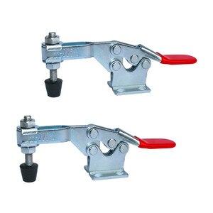 Image 1 - Houd Klemmen 2Pcs 225D 227Kg/500Lbs Holding Capaciteit Rod Arm Lasmachine Bediening Schimmel Metalen Horizontale toggle Klemmen