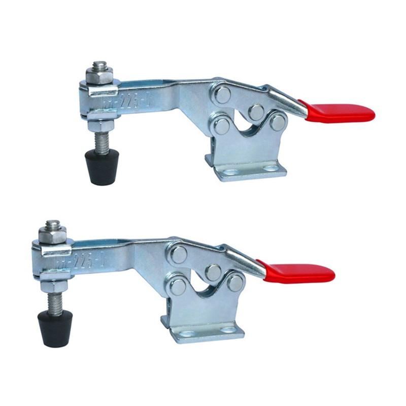 Segure para baixo grampos 2 pces 225d 227 kg/500lbs capacidade de retenção haste braço máquina de solda operação molde metal horizontal alternar grampos