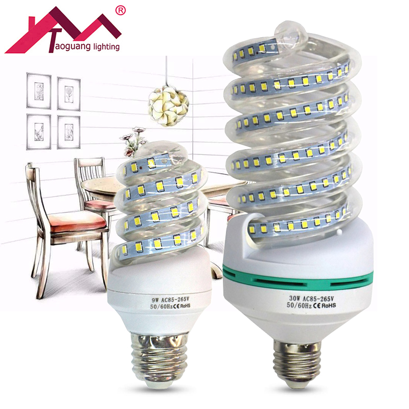 E27 LED Lamp 220V SMD 2835 LED Bulb 5W 7W 9W 12W 16W 20W 24W 30W Corn Bulb Chandelier Candle Light Lampada Bombillas Ampoule Led beilai 5736 smd lampada led lamp e27 220v corn light e14 led bulbs 3w 5w 7w 9w 12w 15w candle spotlight luz chandelier