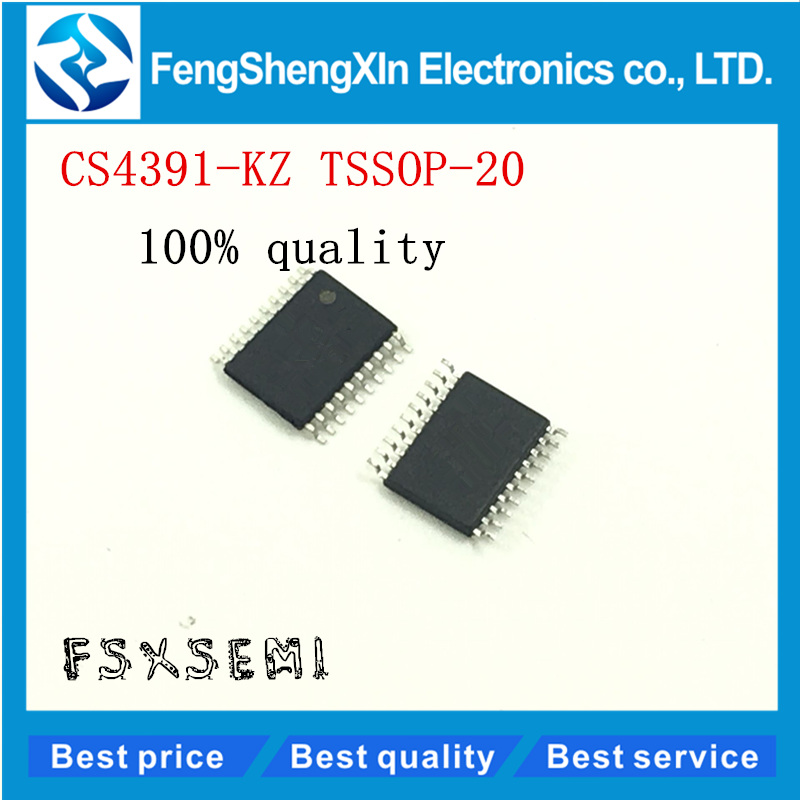 10pcs/lot New CS4391 CS4391KZ CS4391-KZ TSSOP20 <font><b>24</b></font>-Bit <font><b>192</b></font> kHz Stereo <font><b>DAC</b></font> with Volume Control IC image