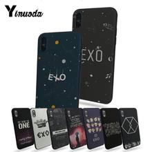 Yinuoda EXO Luxo TPU tampa da Caixa Do Telefone de Borracha Para Apple iphone 7 7plus para iphone X 8 6 8plus s 6 6plus 5 5S 5c(China)