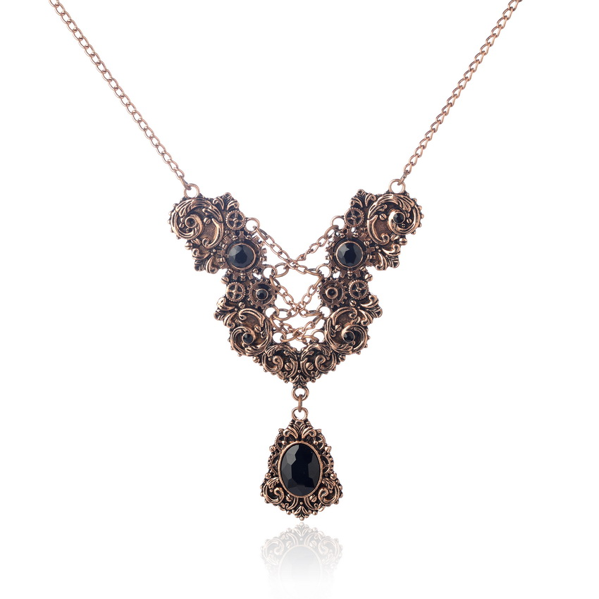 Vintage steampunk fashion necklace s