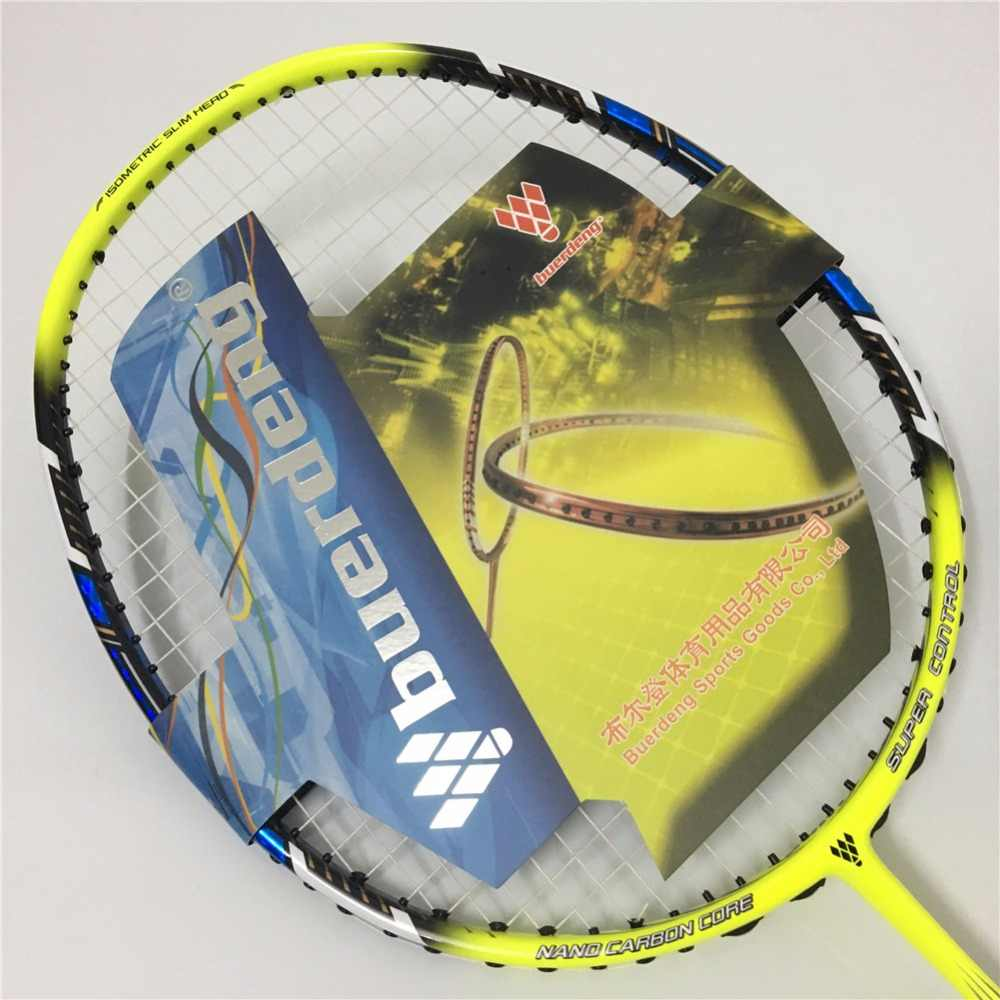 3U Professional badminton racket Head heavy offensive badminton racket man badminton racquet with badminton grip NANORAY VOLTRIC