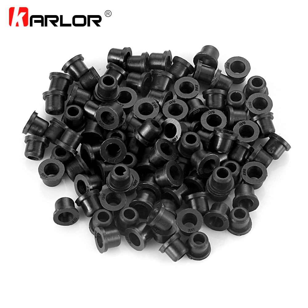 100 Pcs/bag Hood Logo Trunk Emblem Fastener Grommets For BMW 3 5 7 E32 E34 E36 E38 E39 E46 E53 E60 E65 E66 E90 M3 M5 Wholesale цена