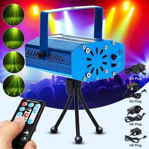 R&G LED Stage Light With Auto SoundMusic Remote Function For DJ Disco Dancing Laser Projector Stage Lighting Effect Party Light