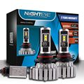 Nighteye 70W 9000LM 9006 LED Headlight Kit HB4 Hi/Lo Beam Light Bulb 6000K White