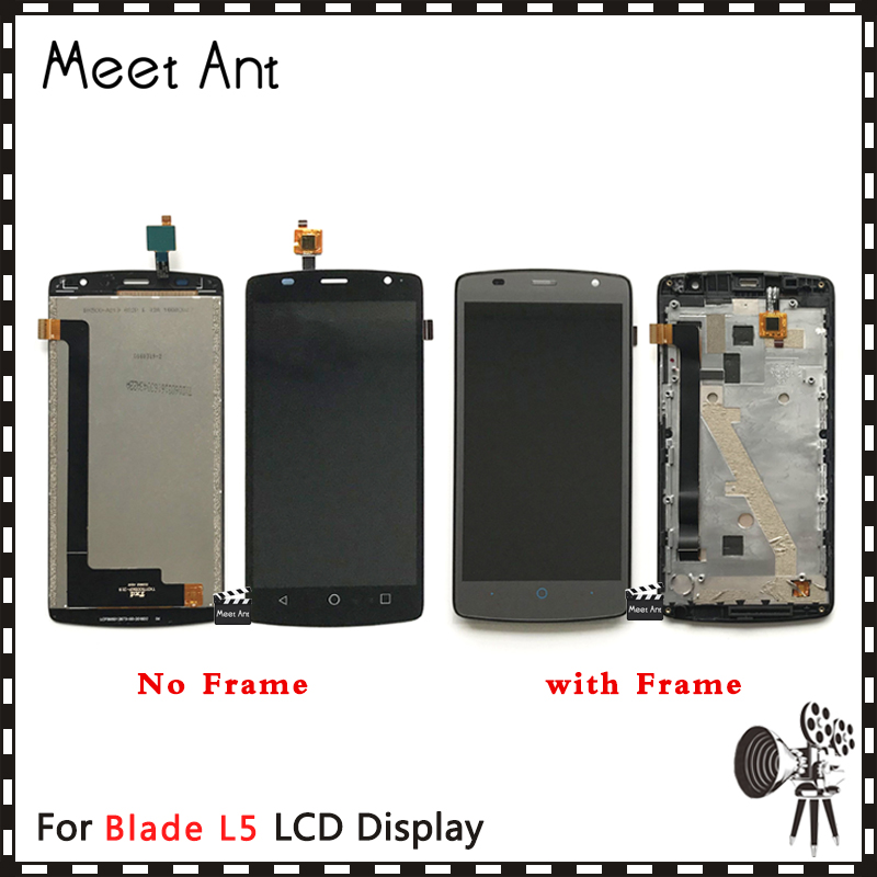 High Quality 5.0'' For ZTE Blade L5 and L5 Plus LCD Display Screen With Touch Screen Digitizer Assembly