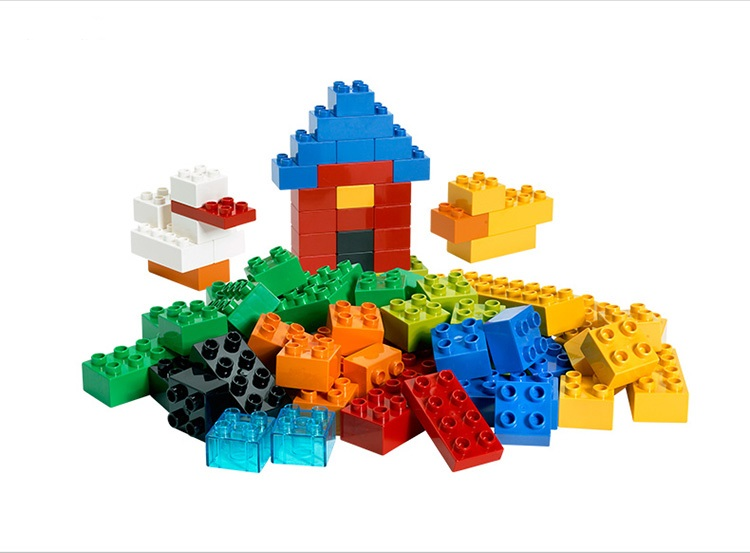 Large size bricks china brand building blocks classic baby for Modele maison lego duplo
