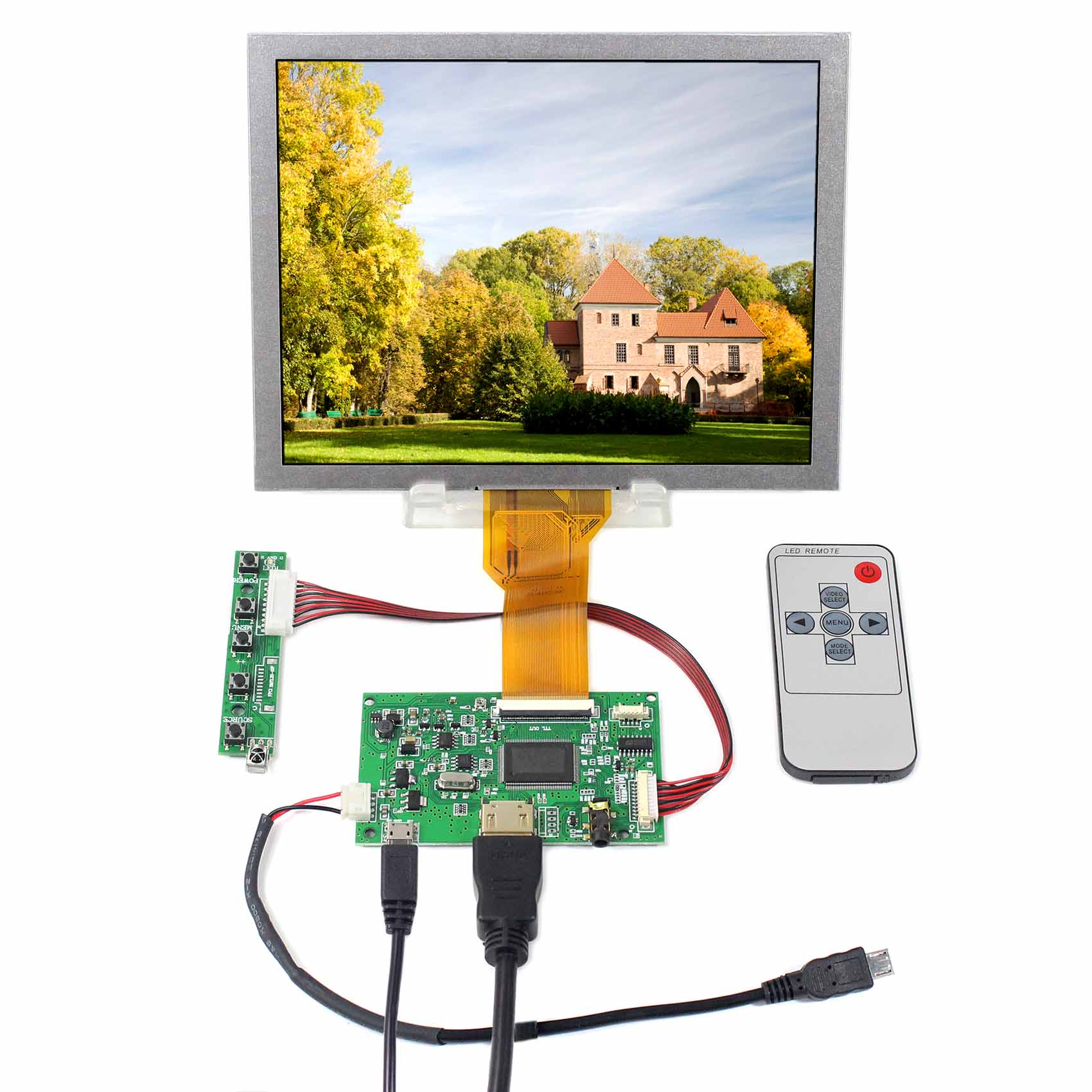 8 inch 800X600 LCD Screen  EJ080NA-05B with HDMI LCD Controller Board  Fit To Raspberry Pi8 inch 800X600 LCD Screen  EJ080NA-05B with HDMI LCD Controller Board  Fit To Raspberry Pi