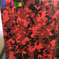 Большой пиксель военный Камуфляжный узор цифровой красный тигр армейская виниловая пленка грузовик автомобиль камуфляжная наклейка, лист