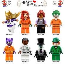 8 Estilo Série de Filmes do Batman Palhaço Vingança Legoed Squad Modelo Blocos de Construção DIY Brinquedos Compatíveis com Armas de Ação Figura Brinquedos