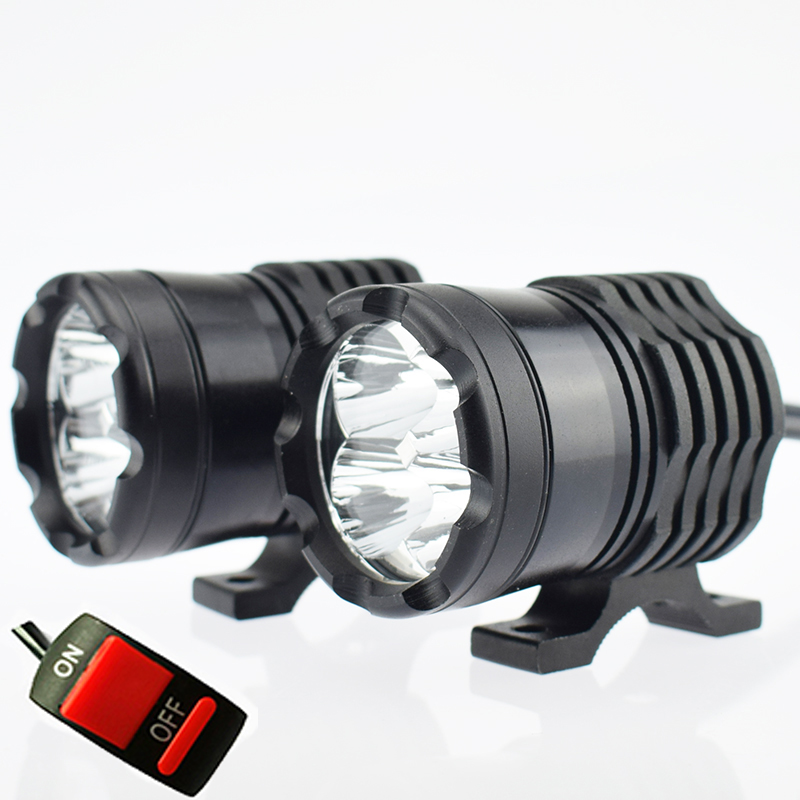 Motorcycle LED Headlight Waterproof Moto 12v 40w Auxiliary Work Lights Motor Bicycle Fog Spot Lamp 6000k Motorbike Spotlights