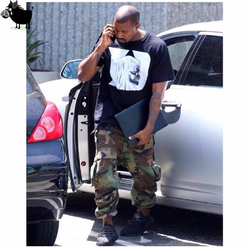 Man Si Tun kanye west Casual Fashion Hip Hop Factory Connection Mens Clothing military tactical cargo Pants camouflage Camo