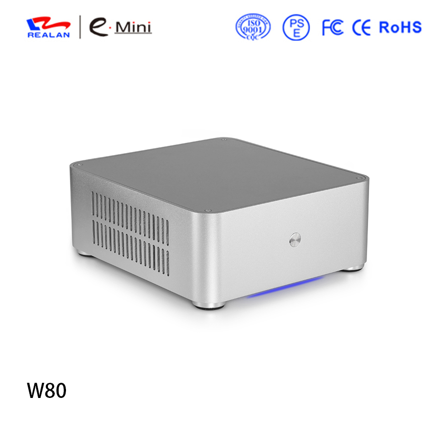 Brand W80 DIY gaming computer case desktop computers without Power Supply For Office and House Free Shipping realan tower case computer for body computer w60 with usb and 12v5a power supply