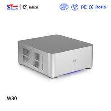 Marke W80 DIY gaming pc-gehäuse desktop computer ohne Stromversorgung Für Büro und Haus Kostenloser Versand